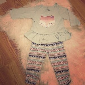 Cute long sleeve fox outfit